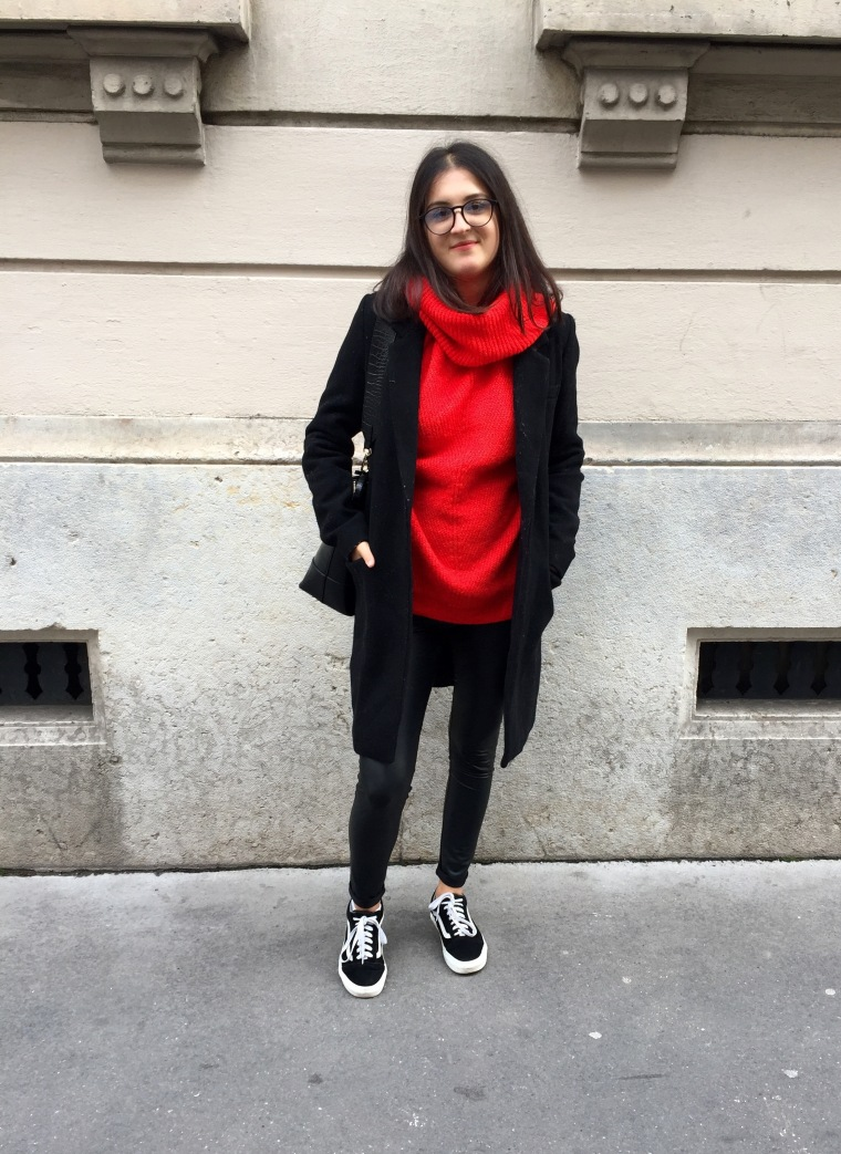 Leggings_cuir_pull_rouge1